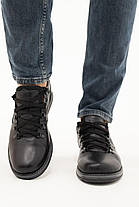 Мужские Повседневные туфли кожаные весна/осень черные-матовые Yuves 650, фото 2