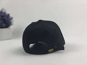 Кепка Бейсболка Мужская Женская Ediko Черная с бордовой полосой на козырьке, фото 2