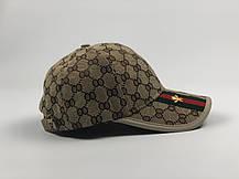 Кепка Бейсболка Мужская Женская Gucci с пчелой Бежевая, фото 2