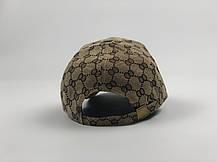 Кепка Бейсболка Мужская Женская Gucci с пчелой Бежевая, фото 3
