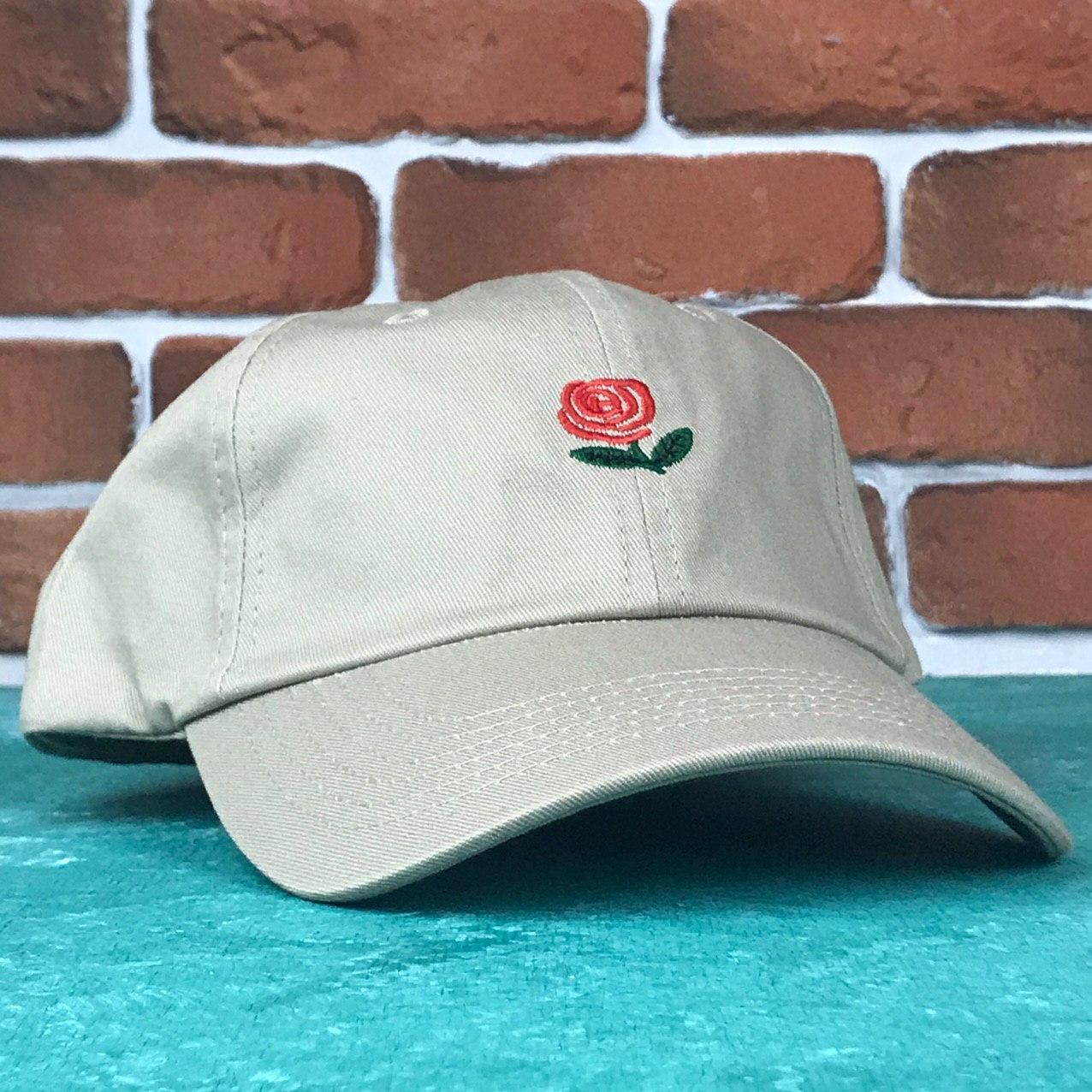 Кепка Бейсболка Мужская Женская The Hundreds Rose с Розой Бежевая