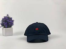Кепка Бейсболка Мужская Женская The Hundreds Rose с Розой Темно-Синяя, фото 2