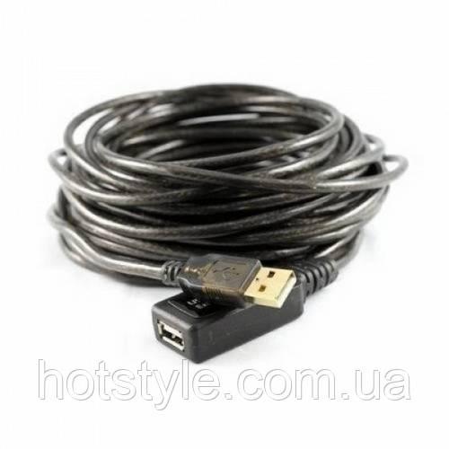 10м USB 2.0 удлинитель активный репитер, 100255