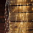 Гирлянда Конский хвост Alphatrade 2,5 м, 425 диодов, серебряный провод, 18 нитей, цвет белый теплый, фото 3