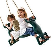 Подвесные двойные качели для детских спортивных комплексов дома и на улице из пластика Спина к спине 61490