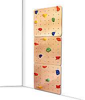 Скалодром для детей с 20 зацепами из штучного камня, нагрузка до 100кг для дома и спортзала 75х2.1х225см 61459