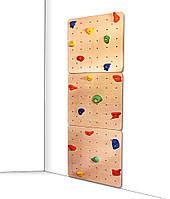 Детский скалодром для дома и спортзала с 20 зацепами из штучного камня, нагрузка до 100кг, 75х2.1х225 см 61464