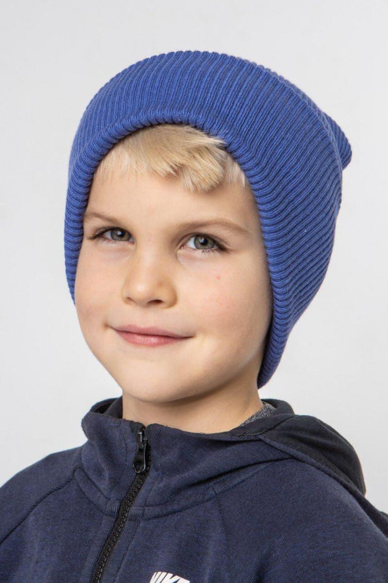 Стильна зимова шапка з відворотом для хлопчика - Артикул 2751