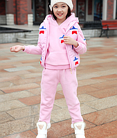 Спортивный костюм тройка, жилетка из плащевки  Д 01020-И
