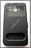 Черный чехол-книжка Double Window для смартфона Lenovo A916, фото 4