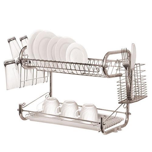 Сушилка для посуды двухъярусная Stenson Julliana 68*26*35см (MH-0067o)