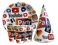 Набор праздничной посуды Социальные сети