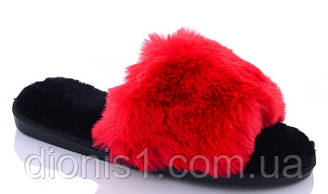 Домашні Тапочки жіночі Червоні 10 шт в уп. розмір 36-41 демісезонні