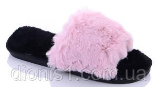 Тапочки жіночі домашні Рожевий 10 шт в уп. розмір 36-41 демісезонні