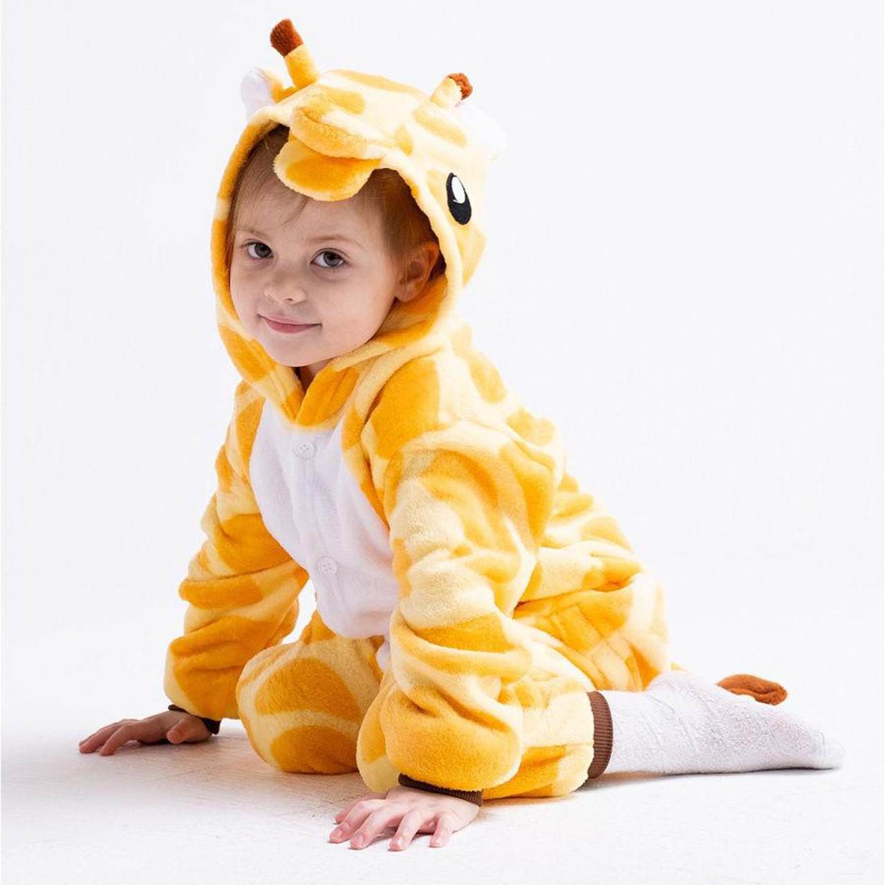 Кигуруми пижама детская Жираф цельная комбинезон для детей
