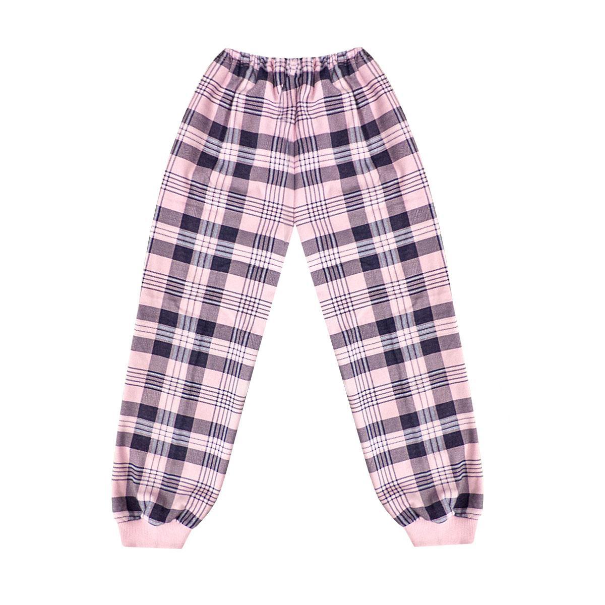 Тёплые домашние штаны для девочки начес