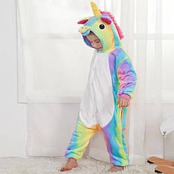 Кигуруми піжама дитяча райдужний Єдиноріг цілісна комбінезон для хлопчиків та дівчаток