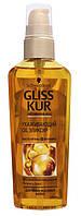 Ухаживающий эликсир Gliss Kur с маслом Арганы и витамином Е для поврежденных волос 75 мл