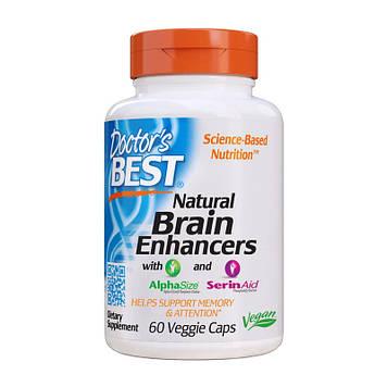 Улучшение памяти и внимания Doctor's BEST Natural Brain Enhancers with AlpaSize and SerinAid (60 veg caps)