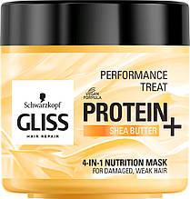 Маска-харчування 4-в-1 Gliss Kur Performance Treat для пошкоджених, ослабленых волосся 400 мл