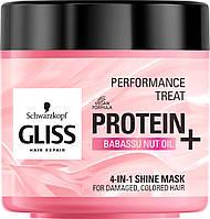 Маска-блеск 4-в-1 Gliss Kur Performance Treat для поврежденных и окрашенных волос 400 мл