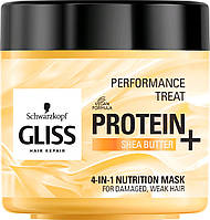 Маска-питание 4-в-1 Gliss Kur Performance Treat для поврежденных, ослабленых волос 400 мл