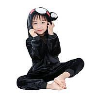 Кигуруми пижама детская черный Медведь костюм комбинезон