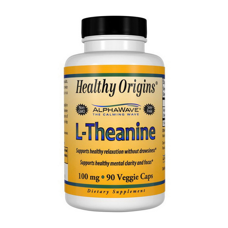 Аминокислота Л-теанин Healthy Origins L-Theanine 100 mg (90 veg caps)