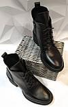 Dolce Gabbana Женские кожаные лаковыезимние ботинки полуботинки на шнуровке, со змейкой средний каблук. Зима., фото 7