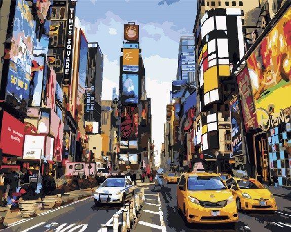 Картина по номерам Жизнь Таймс-сквер 40х50 Yarik's (без коробки)