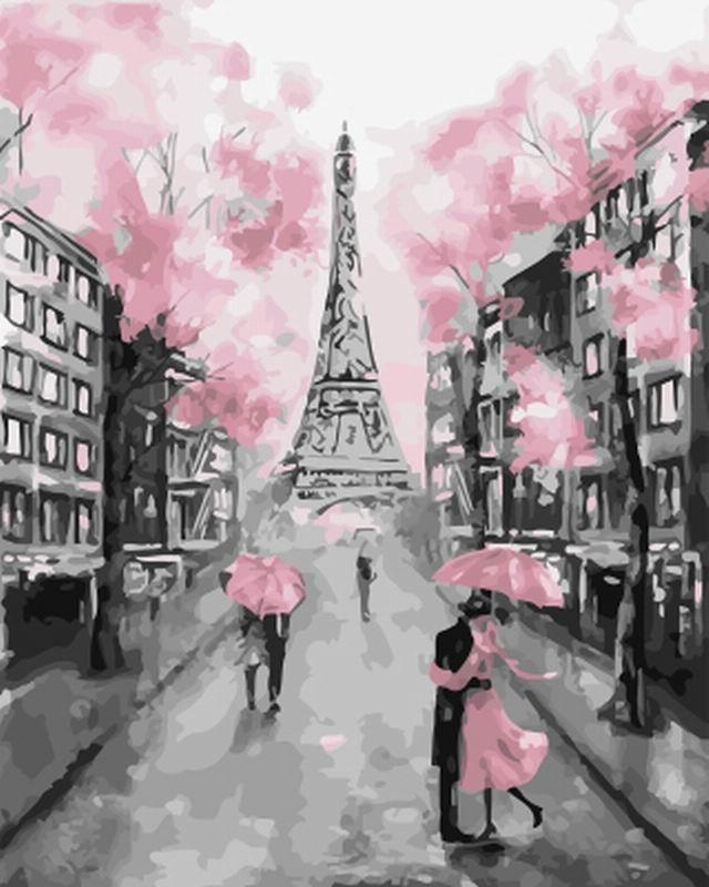 Картина по номерам Розовый Париж 40х50 Yarik's (без коробки)