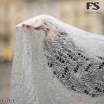 Женский серый  стильный палантин- паутинка Мира, фото 3