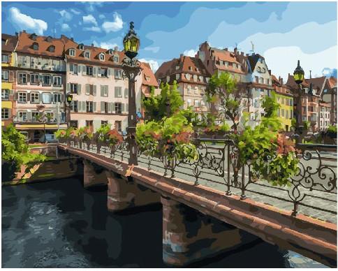 Картина по номерам Город Страсбург 40х50 Yarik's (без коробки)