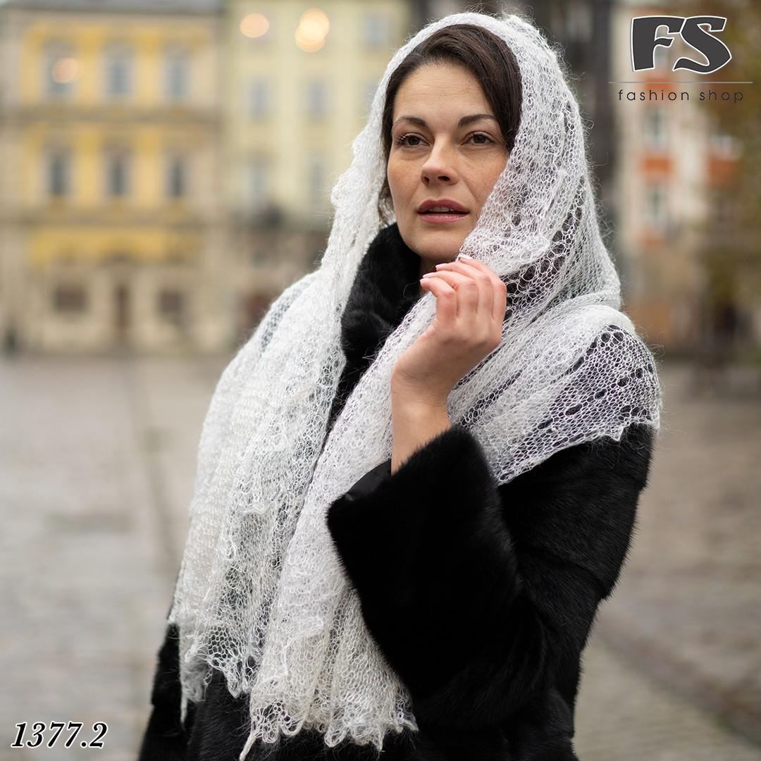 Женский стильный палантин- паутинка Ася