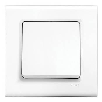 Одинарный выключатель Viko Linnera  без подсветки белый