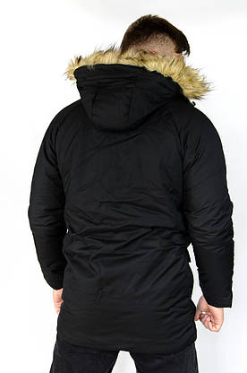 Мужская зимняя парка черная HotWint Intruder с мехом, фото 3