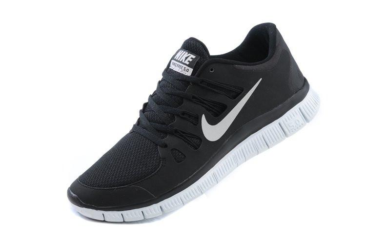 50fc1663 Кроссовки мужские беговые Nike Free Run 5.0 (в стиле найк фри ран) черные -