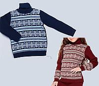 Детский свитер со снежинками. Свитер со снежинками для детей. Новогодний джемпер для детей