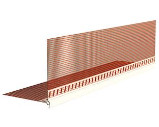 Профіль КУТОВИЙ ПВХ із сіткою 100х150 мм CAPAROL, 2,5 м