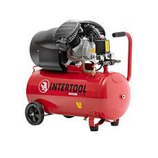 Компрессор 50 л, 2.23 кВт, 220 В, 8 атм, 354 л/мин, 2 цилиндра INTERTOOL PT-0004, фото 2