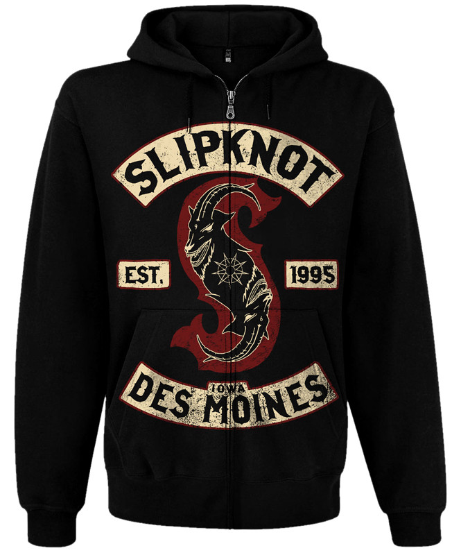 Толстовка на блискавці Slipknot -Des Moines