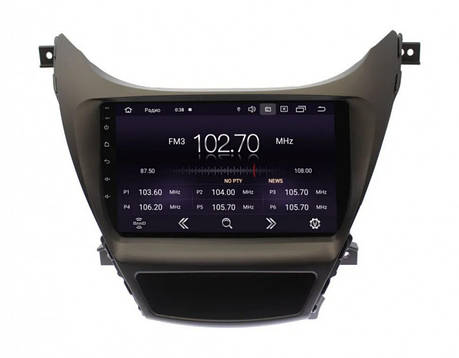 "Штатна автомагнітола Hyundai Elantra 2011-2013 9"" Android 10.1 (4/32Гб), фото 2"
