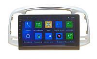 "Автомагнитола Штатная Hyundai Accent 2006-2009 9"" Android 10.1 (4/32Гб)"