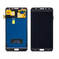 Дисплей для Samsung J701 Galaxy J7 Neo с чёрным тачскрином, с регулируемой подсветкой