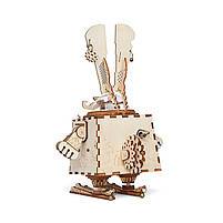 Деревянная музыкальная шкатулка конструктор Robotime AM481 Кролик детский, фото 2