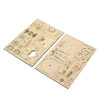 Деревянная музыкальная шкатулка конструктор Robotime AM481 Кролик детский, фото 4