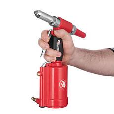 Пистолет заклепочный пневматический в чемодане с аксессуарами INTERTOOL PT-1304, фото 3