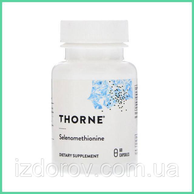 Thorne Research, Селенметионин 200 мкг, Selenomethionine, 60 капсул
