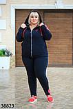Женский спортивный костюм большого размера  р. 56-58 60-62, фото 2
