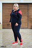 Женский спортивный костюм большого размера  р. 56-58 60-62, фото 3